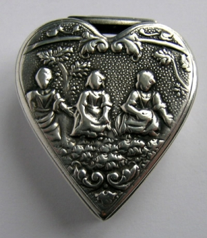 An early Dutch silver comfit/snuff box