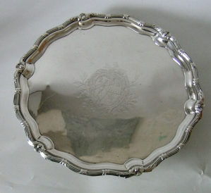 A very fine George II silver salver
