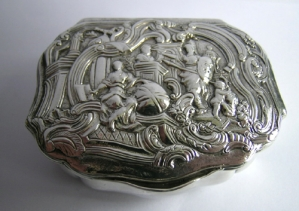 A Danish silver snuff box